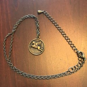 Double-Sided Pegasus Pendant Necklace